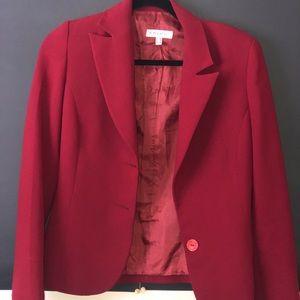Burgundy (Red-ish) blazer.